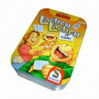 China Tin box for gift, used to pack small toys and game cards wholesale