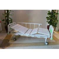 """Buy cheap CE Certificate Mechanical Two Cranks Hospital Patient Bed With 5"""" Double Face from wholesalers"""