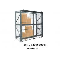China Visible / Ventilated Wire Mesh Pallet Cages , 8 Gauge Wire Shelving Security Cage on sale
