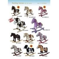 China Plush Rocking Horse Collection Cute Baby Toys For Children Ride on Playing wholesale
