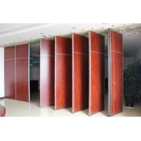 China Hotel Acoustic Wooden Folding Movable Room Partition Wall With Pass Door wholesale