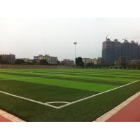 China Green Football Playground Synthetic Grass , Playground Fake Grass For Outside wholesale