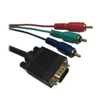 Quality gold plated VGA to 3RCA AV Audio Video M/M Cable, vga 3rca cable for sale