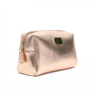 China Beautiful Small Cross Stripe PU leather Makeup Bag for Travel wholesale