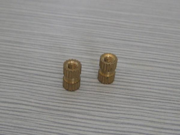 plastic moulding brass insert