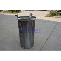 China 80 Micron Vee Wire Screen , Circular Basket Filter Strainer Conical Shape wholesale