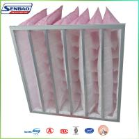 China F7 85% Medium Efficiency Pink Color Synthetic Fiber Bag Type HVAC Air Filters on sale