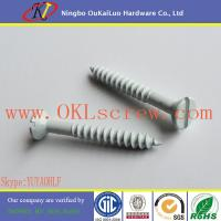 China Ceramic Coating Slotted Countersunk Head Wood Screws wholesale