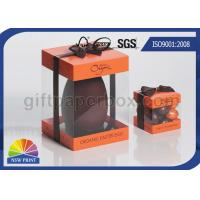 China Logo Printed Transparent PVC Boxes , Gift Paper Box with Clear Plastic Window wholesale