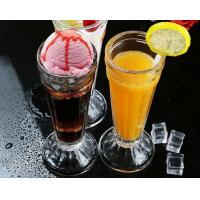 China Tall 7.5cm Ice Cream Cup Glass Water Set Juice Lemon Mini Vase Transparent wholesale