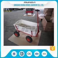 China Tarpaulin Wooden Garden Mesh Cart TC1812 Durable Convenient Carriage SGS wholesale