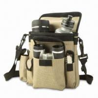 China Camping Set with Binoculars, Whistle, Compass and Drinking Bottle, Made of 600D Polyester wholesale