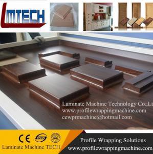 China PVC oak internal doors vacuum membrane press machine wholesale