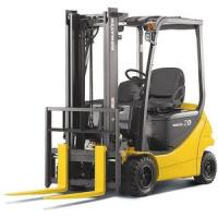 China 1070mm Fork Length 2500kg DC Motor Electric Forklift Truck with pneumatic tires wholesale