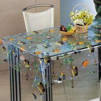 China PVC Non-woven Flower Design Round Vinyl Tablecloth, Thicknesses of 0.15 to 0.18mm wholesale