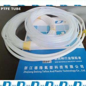 China nature white soft ptfe extrusion tube 6mm*8mm wholesale