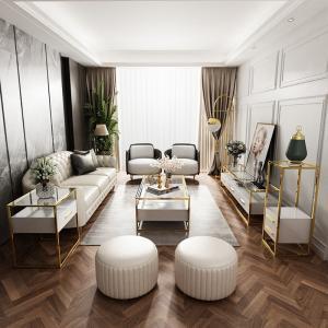 China Customized Hotel Bedroom Furniture U Shaped Leather Sectional Sofa Set wholesale