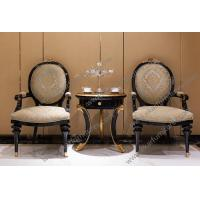 Buy cheap Hot selling luxury villas banquet hall native fabric chairs with table from wholesalers