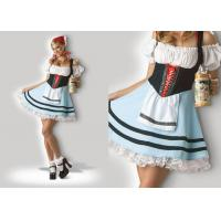 China Oktoberfest Girl 1039  Halloween Adult Costumes Cosplay Dress Clubwear With Scarf wholesale