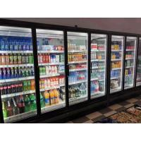 China Remote Multideck Chillers With Doors , Superstore Glass Door Fridge Freezer on sale