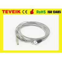 China DIN1.5 Socket 1m OEM Medical Cable With Silver Chloride Plated Silver Electrodes wholesale