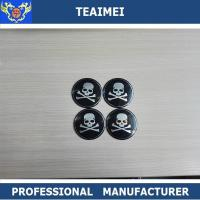 China Aluminum 64mm Wheel Center Cap Stickers With 3m Adehasive Tape On Back wholesale