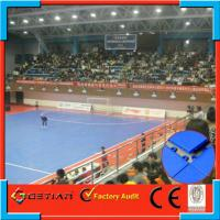 China Resilient Surface Triangle Soccer Floooring , Futsal Turf Rubber Floor on sale