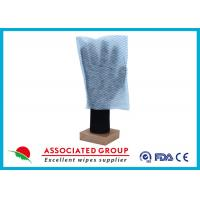 China 100% Polyester Paper Park Dry Body Cleaning Gloves 35GSM Square Shape wholesale