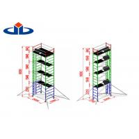 China Alloy Aluminium Mobile Tower Scaffold Lightweight Scaffold Tower Platform 272kg Load Capacity on sale