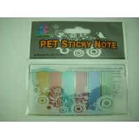 China PET Pocket Customized Sticky Notes Memo , Unique Adhesive Custom Printed Post It Notes on sale