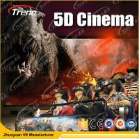 China Electric Motion 5D Movie Theater  8 / 9 / 12 Seats With 6 DOF Hydraulic Platform wholesale