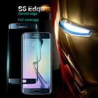 China New arrival curved edge for Samsung S6 Edege full coverage Tempered Glass screen protector wholesale