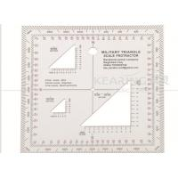 China Top Rated Military Square Protractor 12.7cm*12.7cm with Triangle Holes wholesale