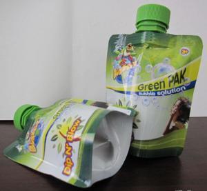 China Food Industry Gravure Printing Foil Sour Milk Liquid Spout Bags With Nozzle wholesale
