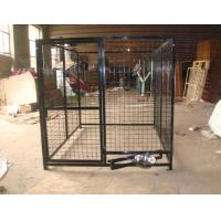 China outdoor temporary dog fence, pvc chain link dog kenel 1.5m x 1.8m x 1.8m free design to meet you idea to control dog wholesale