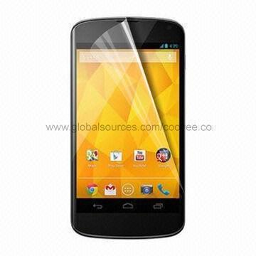 Quality High Transparency Screen Protector for LG Nexus 4, for LG Nexus 4 Screen Protector for sale