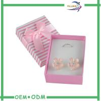 Square Shape Cardboard Jewelry Gift Boxes With Foam & Velvet Inside