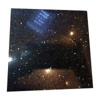 China Black Galaxy Artificial Quartz Stone Slabs , Black Galaxy Quartz Countertop wholesale