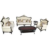 Quality 010# wooden carved Luxury home furniture Royal genuine leather sofa set. 1+2+3 for sale