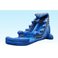 China 22Ft Tidal Wave Backyard Water Slides , Singel Lane Inflatable Super Slide With Climbing Stair on sale