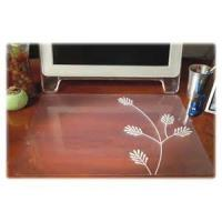 China Comfortable Custom Desk Pad Transparent Desk Mat For Dining Table / Tea Table wholesale