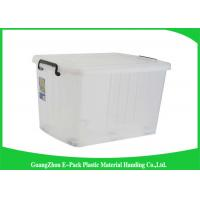 China Portable Plastic Storage Boxes With Lid , Recycled Big Plastic Storage Boxes wholesale