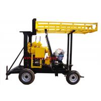 JXY200 Trailer Mounted Water Borehole Drilling Equipment With 200m Drilling Capacity