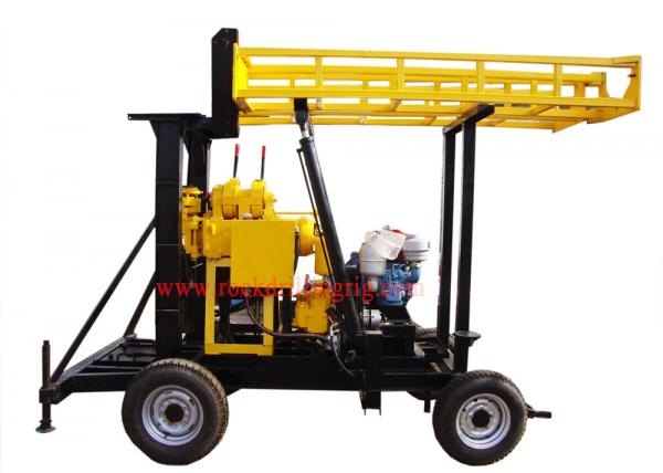 Quality JXY200 Trailer Mounted Water Borehole Drilling Equipment With 200m Drilling Capacity for sale