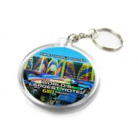China Good Quality Printing Logo Oval Shape Acrylic Keychain wholesale
