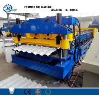 China Classical Type High Speed Glazed Tile Roll Forming Machine With Hydraulic Pressing Device wholesale