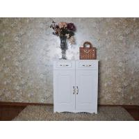China Wooden White Shoe Storage Cabinets Shoe Rack Modern Appearance wholesale