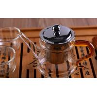 China Pyrex Microwave Heating Glass Tableware Teapots with Stainless Steel Infuser & Lid wholesale