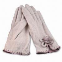 China Ladies Gloves with Flower Decorate, Made of Wool and Acrylic wholesale