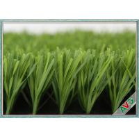 China 60 Mm Height Outdoor Soccer Artificial Grass / Turf For Exercise Long Life wholesale